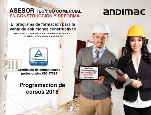 Calendario 2018 – Programa Asesor Técnico Comercial en Construcción y Reforma