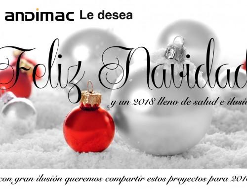 Andimac le desea una Feliz Navidad y compartir sus ilusiones para 2018