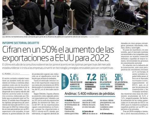 Cifran en un 50% el aumento de las exportaciones a EEUU para 2022
