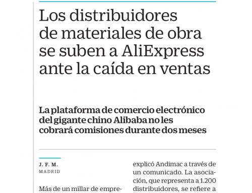 Los distribuidores de materiales de obra se suben a AliExpress ante la caída en ventas