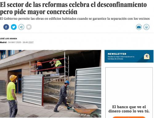 El País | El sector de las reformas celebra el desconfinamiento pero pide mayor concreción
