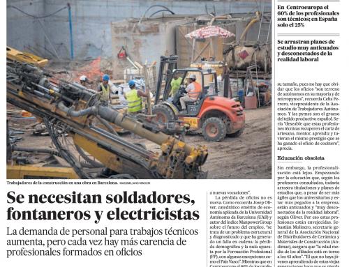 El País | Se necesitan soldadores, fontaneros y electricistas