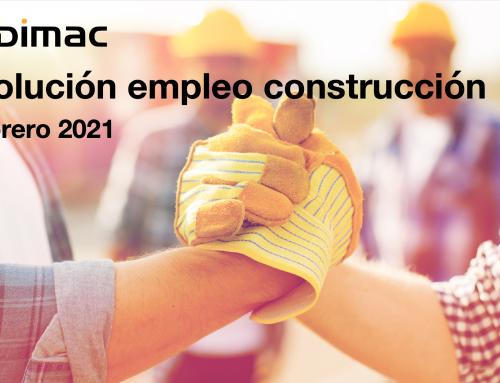 Evolución del empleo en construcción en el mes de febrero