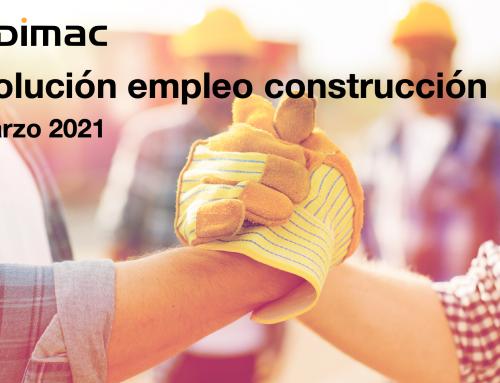 Evolución del empleo en construcción en el mes de marzo