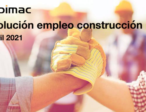 Evolución del empleo en construcción en el mes de abril